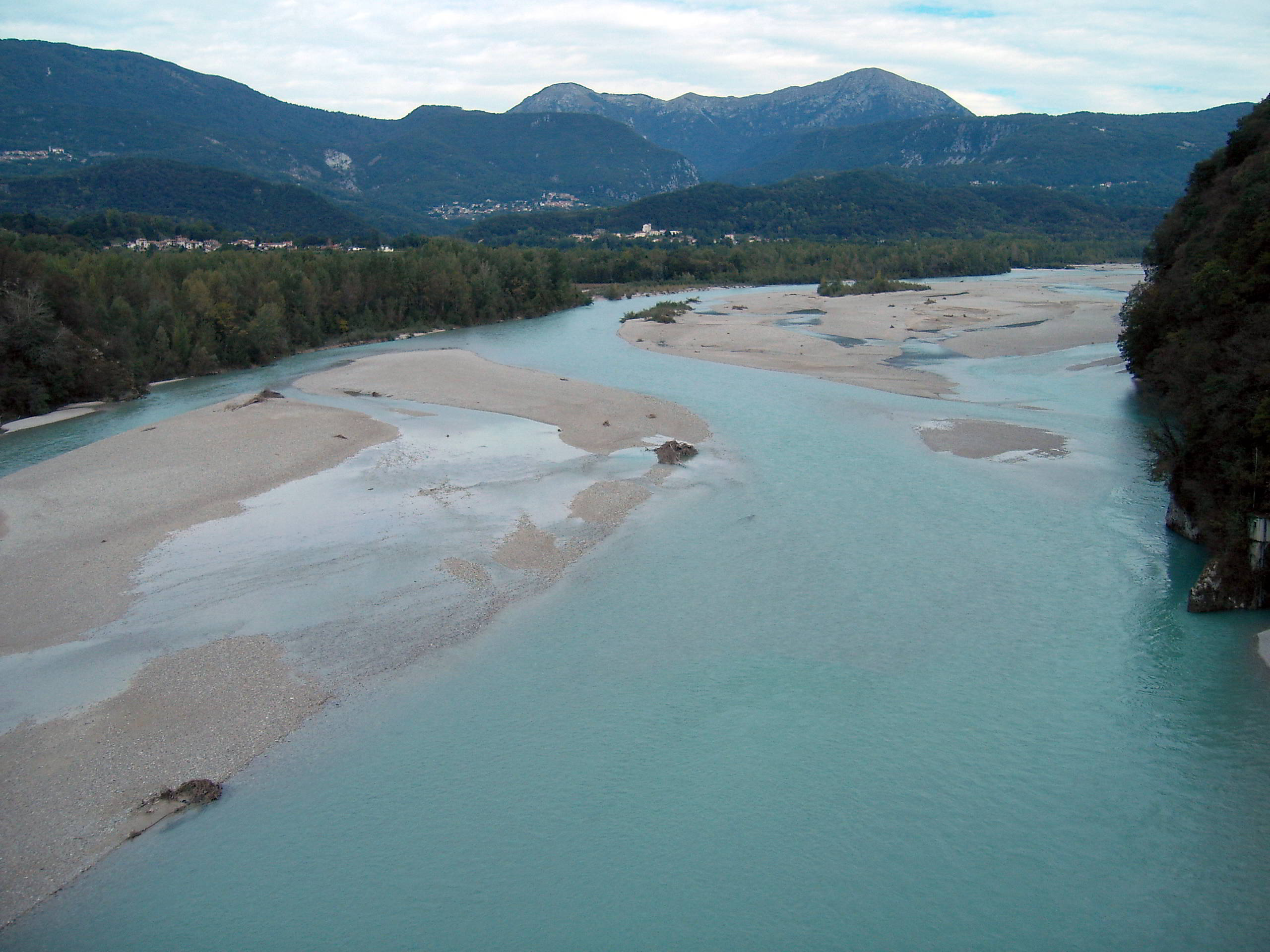 The Tagliamento in Friuli, northern Italy, is one of the last wild rivers in Europe.