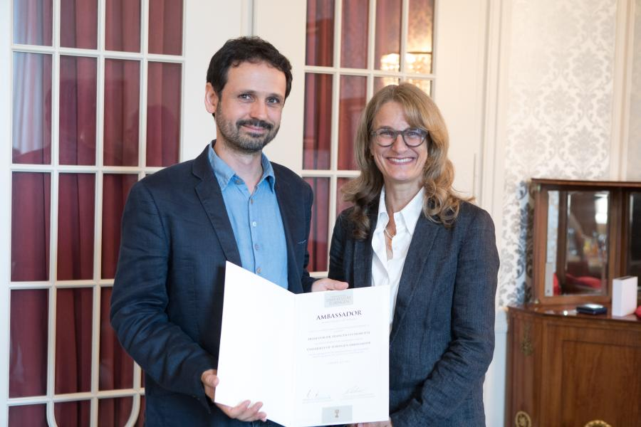 Professor Francesco Chiabotti, new University of Tübingen Ambassador to France, and Professor Monique Scheer, Vice-President for International Affairs