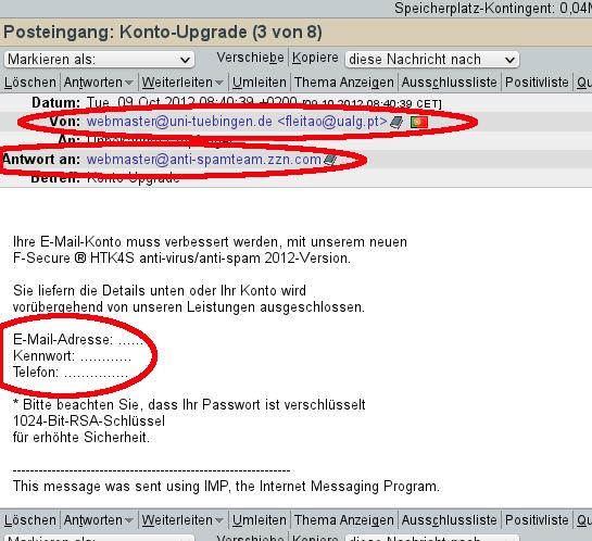 Phishing Mails Erkennen