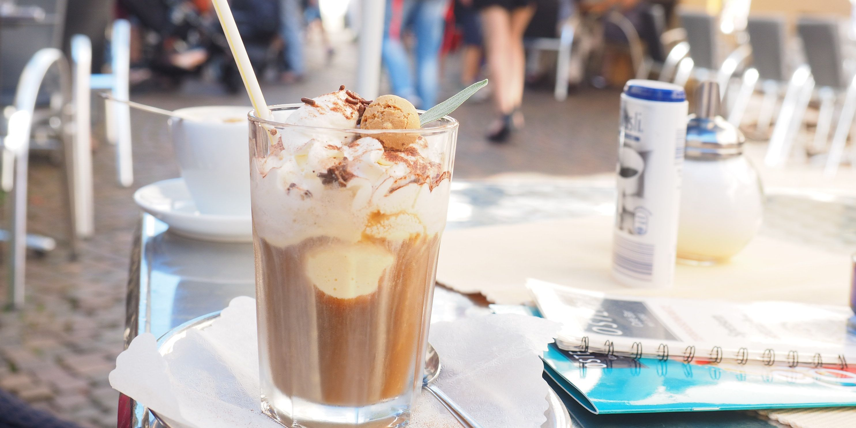 Iced coffee in the old town