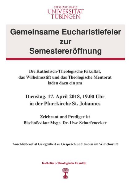 Fakultät | Catholic Theology | | University Tübingen
