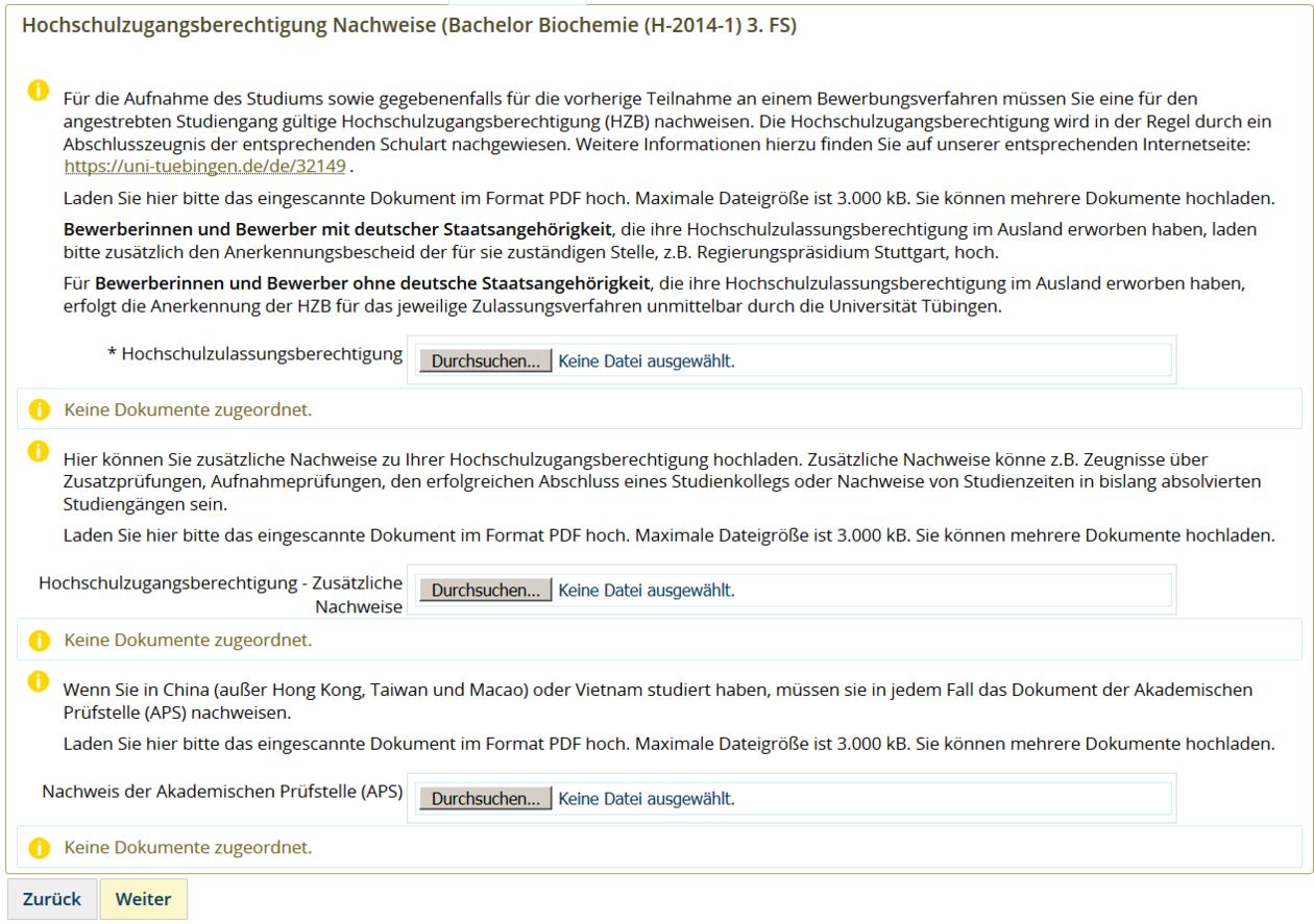 Tübingen Universität Bewerbung